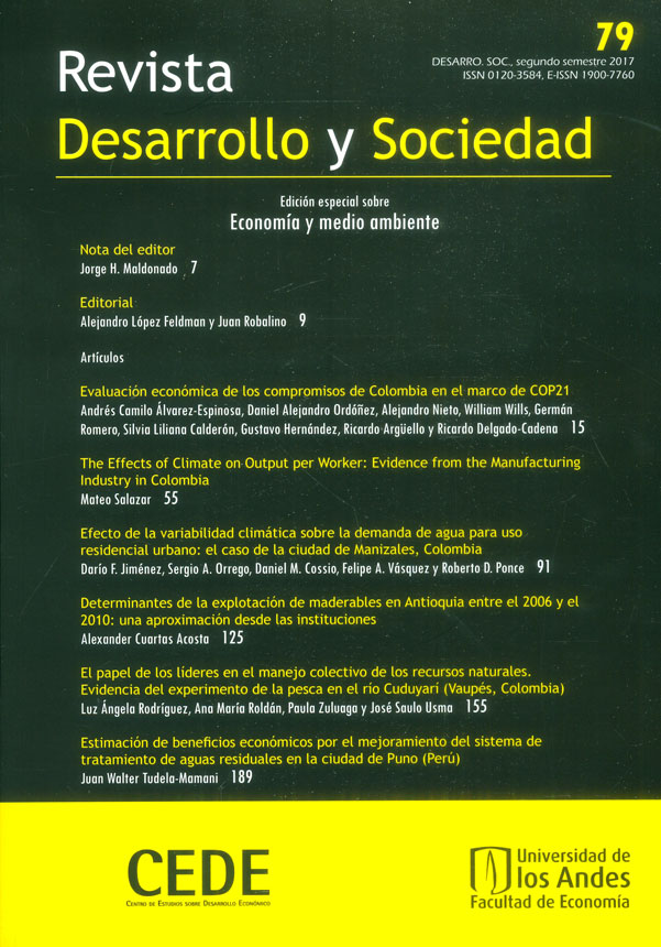 Revista desarrollo y sociedad No.79