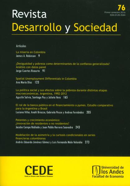 Revista desarrollo y sociedad No.76