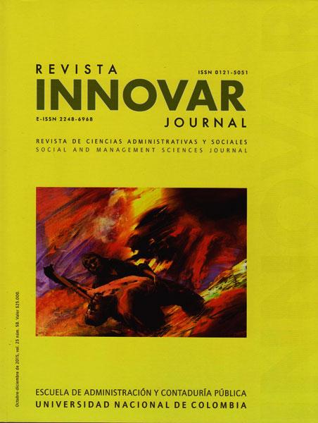 Revista Innovar Vol.25 No.58. Revista de ciencias administrativas y sociales