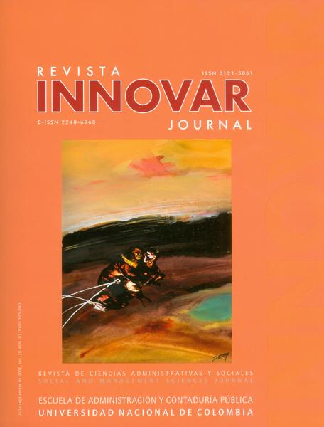Revista innovar. Revista de ciencias administrativas y sociales Vol 26- No.61