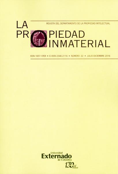 Revista la propiedad inmaterial No.22
