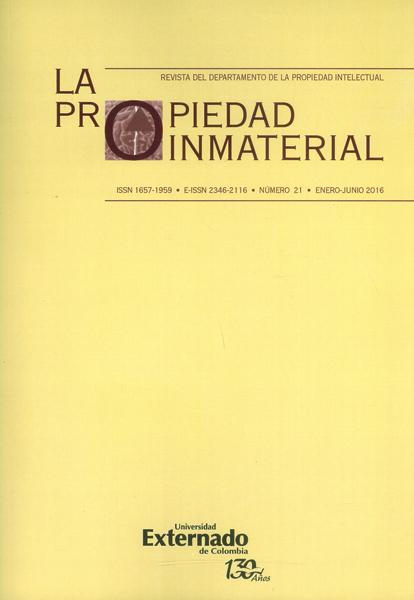 Revista la propiedad inmaterial No. 21