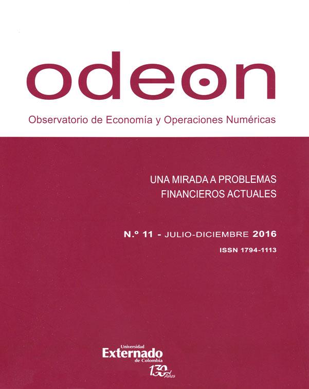 Revista Odeon No. 11. Una mirada a problemas financieros actuales