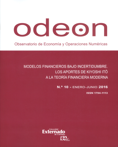 Revista Odeon No. 10. Modelos financieros bajo incertidumbre. Los aportes de Kiyoshi Itô a la teoría financiera moderna