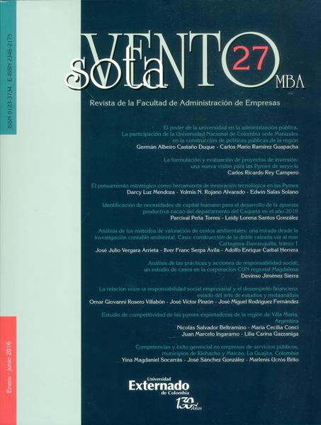 Revista sotavento No.27 MBA