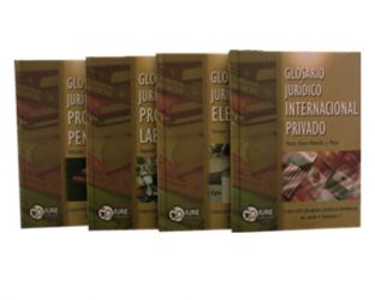 Cuarta serie de glosarios jurídicos temáticos. IV Tomos