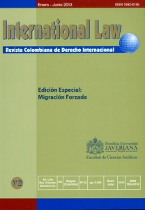 International Law. Revista colombiana de Derecho Internacional No. 22