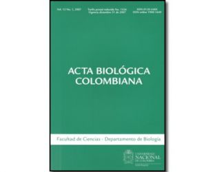 Acta biológica colombiana. Vol. 12 No. 1