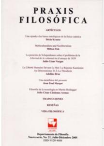 Revista Praxis Filosófica. No. 21