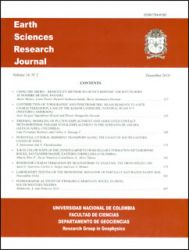 Earth Sciences Research Journal. Volumen 14. No. 2