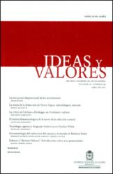 Ideas y Valores. Revista Colombiana de Filosofía. Vol. LX No. 145