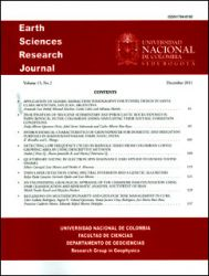 Earth Sciences Research Journal Vol. 15 No.2