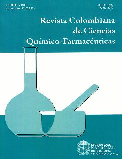 Revista colombiana de ciencias químico-farmacéuticas. Vol. 41. No. 1