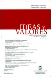 Ideas y Valores. Revista Colombiana de Filosofía. Vol. LXII. No. 151