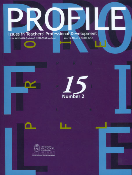 Profile. Issues in Teachers' Professional Development. Vol. 15 No. 2