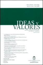 Ideas y valores. Revista Colombiana de Filosofía. Vol LXII No. 152