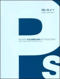 Revista colombiana de psicología. Vol 23. No. 1