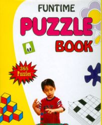 Funtime puzzle book (Yellow)