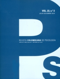 Revista colombiana de psicología. Vol 23. No. 2