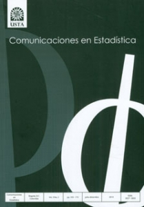Revista Comunicaciones en estadística Vol. 3 No. 2