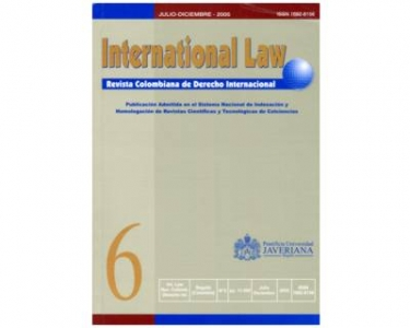 International Law - Revista colombiana de derecho internacional, No. 06