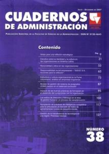 Cuadernos de Administración No. 38