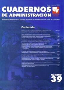 Cuadernos de Administración No. 39