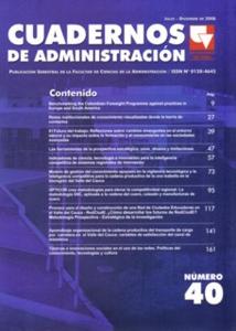Cuadernos de Administración No. 40