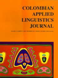 Colombian Applied Linguistics Journal. Number 2. Volume 14