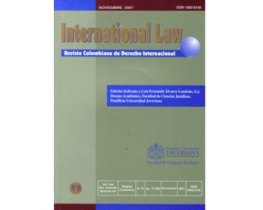 International Law - Revista Colombiana de Derecho Internacional, No. 10