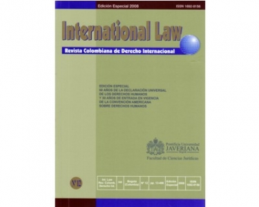 International Law - Revista Colombiana de Derecho Internacional. No. 12