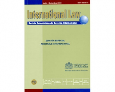 International law - Revista Colombiana de Derecho Internacional. No. 15