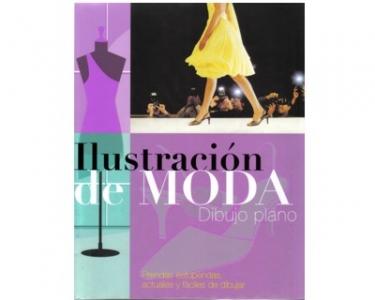Ilustración de moda. Dibujo plano