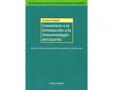 """Comentario a la Introducción a la  """"Fenomenología del Espíritu """""""