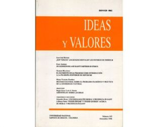 Ideas y Valores. Revista Colombiana de Filosofía. No. 102