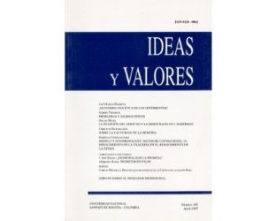 Ideas y Valores. Revista Colombiana de Filosofía. No. 103