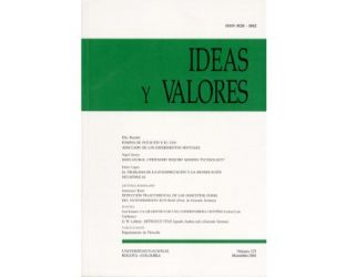 Ideas y Valores. Revista Colombiana de Filosofía. No. 123