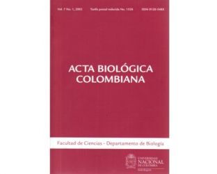 Acta Biológica Colombiana. Vol. 07 No. 1