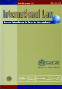 International Law. Revista colombiana de derecho internacional No. 19