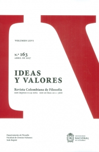 Ideas y valores.Revista colombiana de filosofía Vol. LXVI No.163