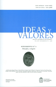 Ideas y valores. Revista colombiana de filosofía.  Vol.LXV Suplemento No.2