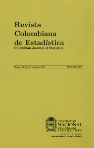 Revista colombiana de estadística Vol.39 No.1