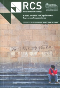 Revista colombiana de sociología: Estado, sociedad civil  y gobernanza local en contextos violentos-Vol.38 No. 1