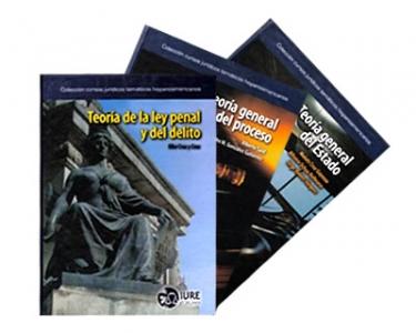 Colección cursos jurídicos temáticos hispanoamericanos: Teoría general del estado, Teoría de la ley penal y el delito y Teoría general del proceso. 3 Tomos