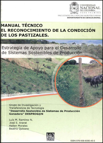 Manual técnico. El reconocimiento de la condición de los pastizales