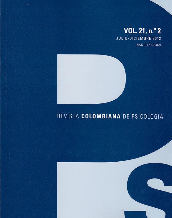 Revista colombiana de psicología. Vol 21. No. 2