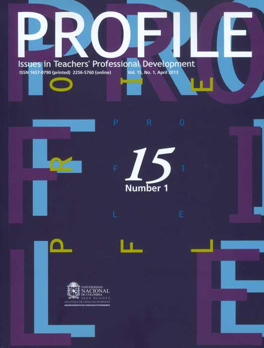 Profile. Issues in Teacher´s Professional Development. Vol. 15 No. 1