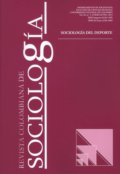 Revista Colombiana de Sociología Vol. 36 No. 1