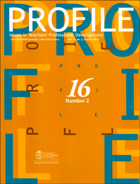 Profile. Issues in teachers professional development. Vol. 16 No. 2
