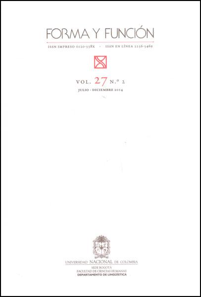 Forma y función Vol. 27 No. 2